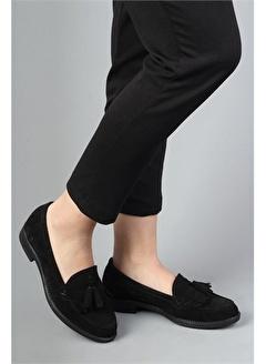 Modabuymus Modabuymus Hakiki Deri Süet Corcik Kadın Ayakkabı - Kolok